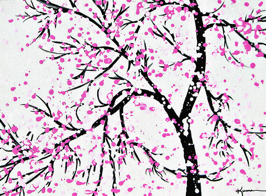 Cherry Blossoms Painting - When Spring Comes by Kume Bryant