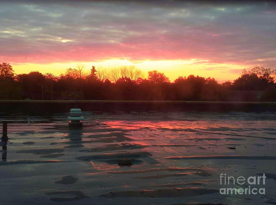 Sunrise Painting - When Sunrise Calls by Judy Via-Wolff
