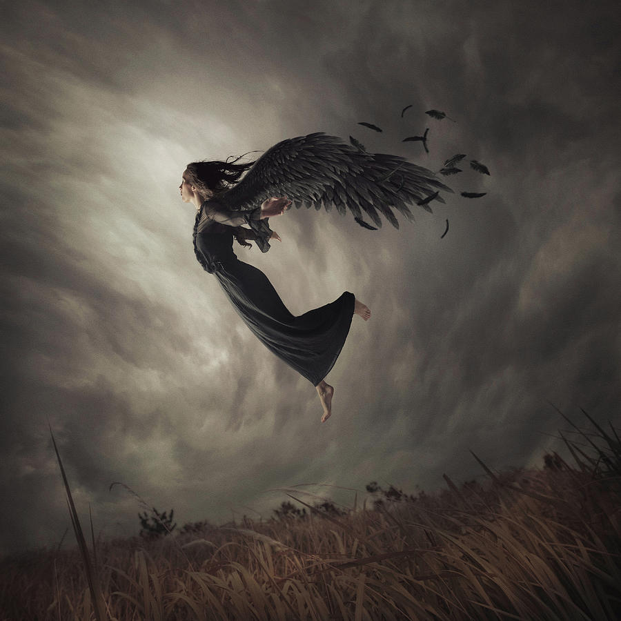 Creative Edit Photograph - When The Angel Falls by Hardibudi