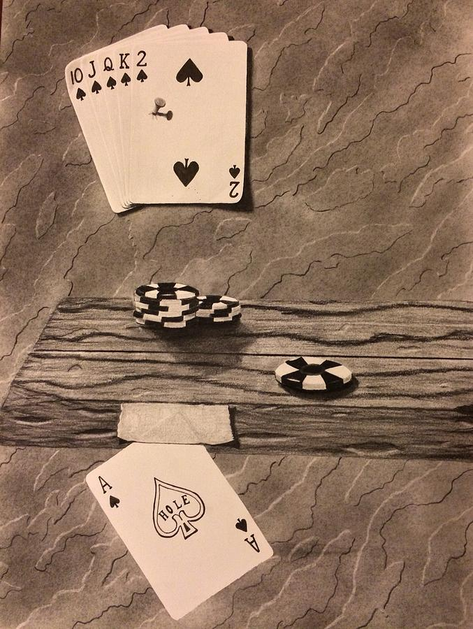 Gambling Drawing - When The Chips Are Down  by Brad Miller