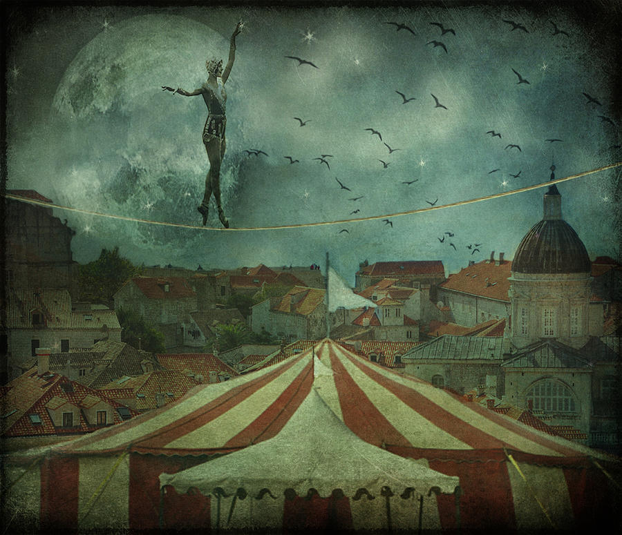 Circus Digital Art - When The Circus Came To Town... by Marie  Gale