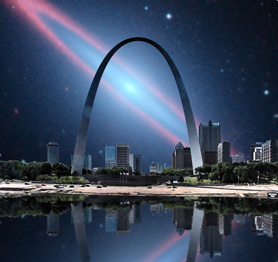 Galaxy Photograph - When The Galaxy Came To St. Louis by C H Apperson