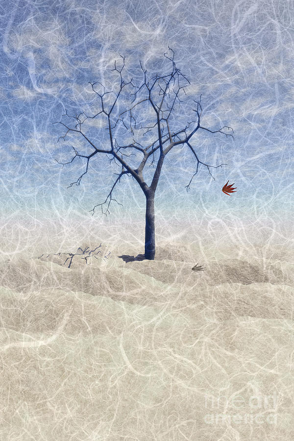 Tree Painting - When The Last Leaf Falls... by John Edwards