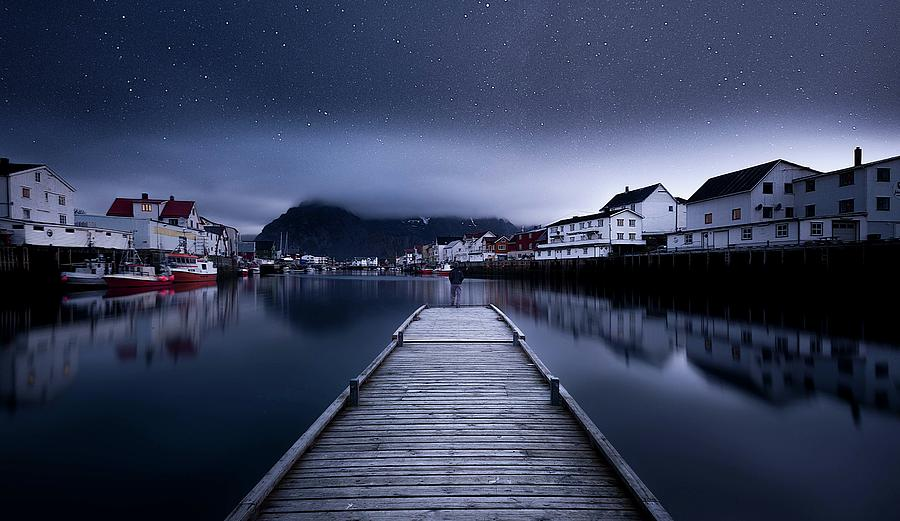 Bridge Photograph - When The Night Comes Falling From The Sky by Lior Yaakobi