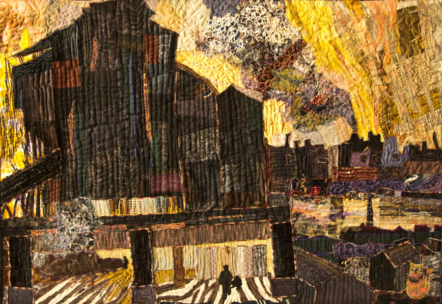 Industry Tapestry - Textile - When The Sky Rained Fire by Martha Ressler