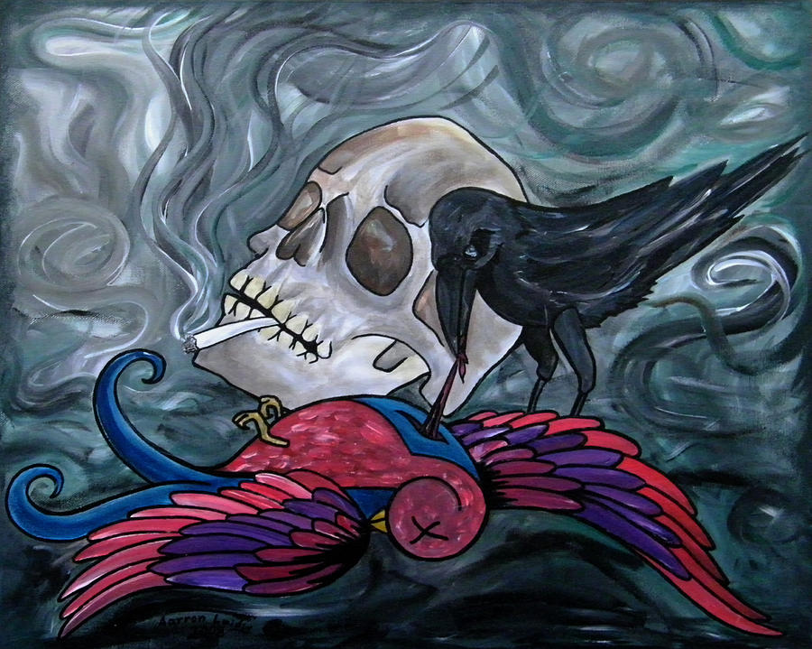When the sparrow met the raven by Aarron  Laidig