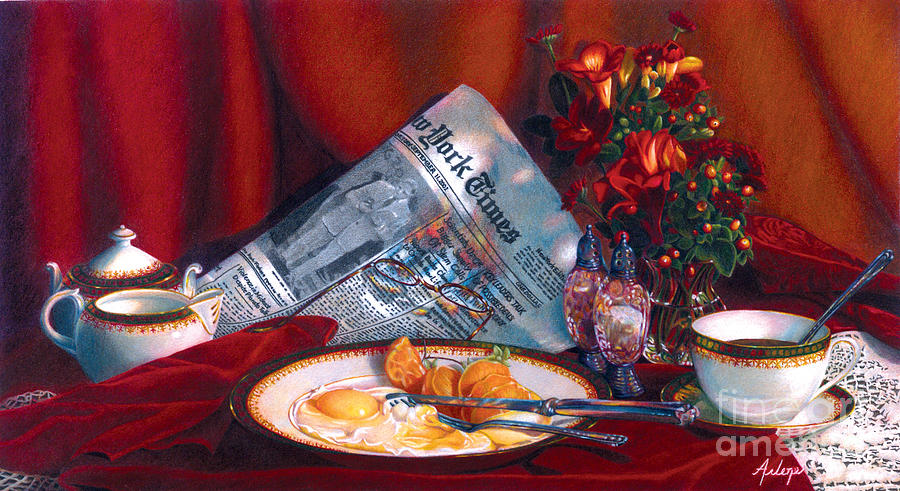 Still Life Painting - When Time Stopped by Arlene Steinberg