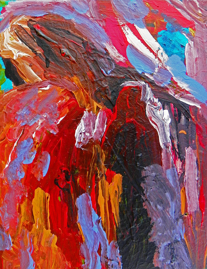 Abstraction Painting - When You Least Expect Me by Judith Redman