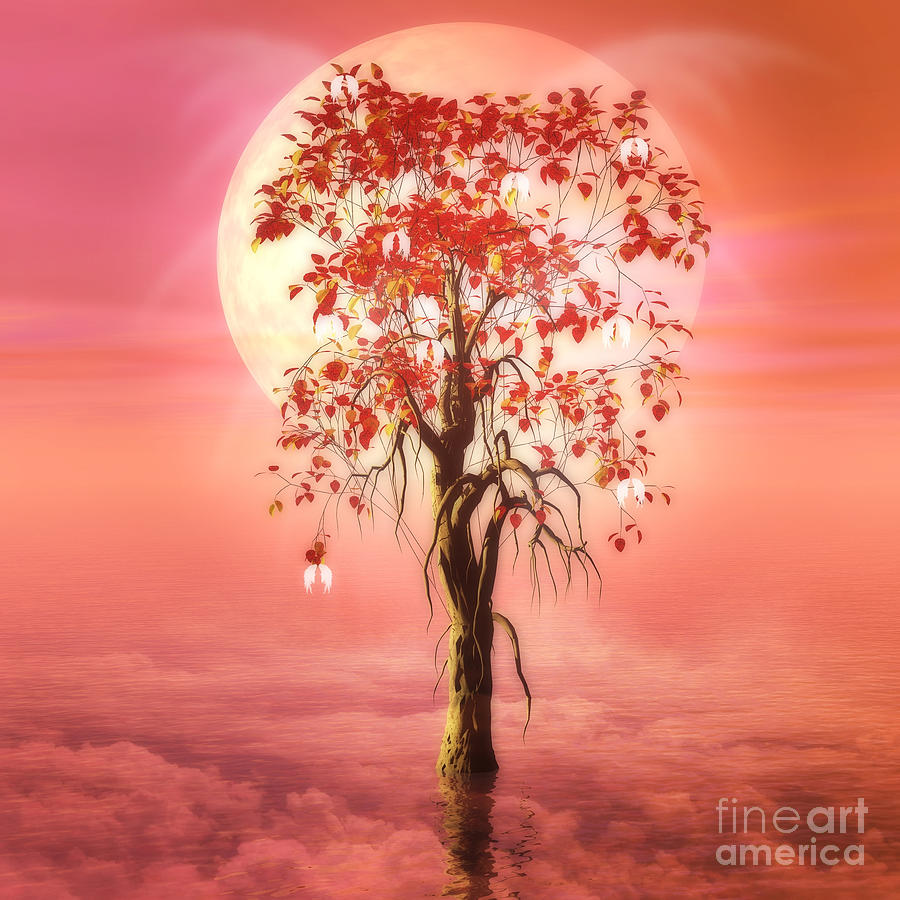 Tree Of Heaven Digital Art - Where Angels Bloom by John Edwards