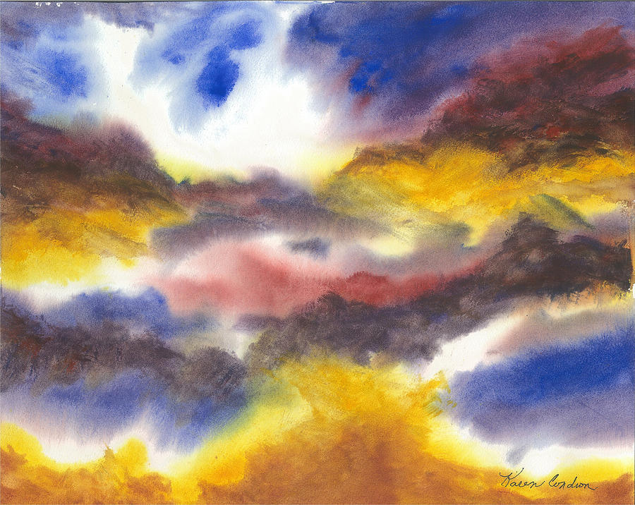 Water Colors Painting - Where Angels Live by Karen  Condron