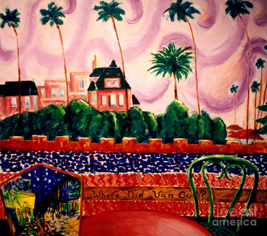 Landscape Painting - Where Did Van Go? by Karen Francis