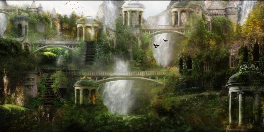 Where Elven Folk Dwell Digital Art