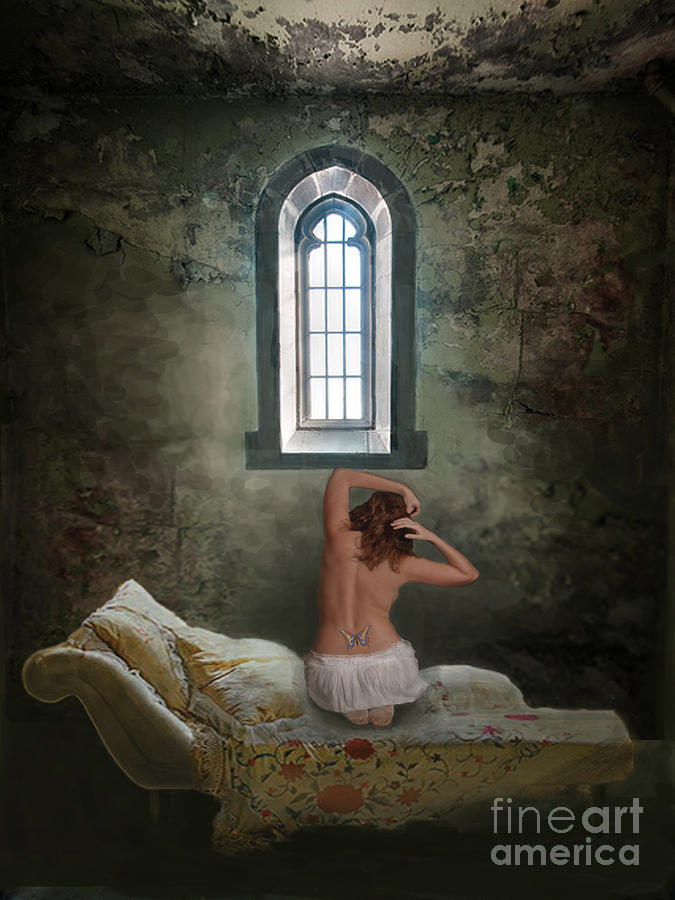 Woman Digital Art - Where Freedom Is A Dream by Maureen Tillman