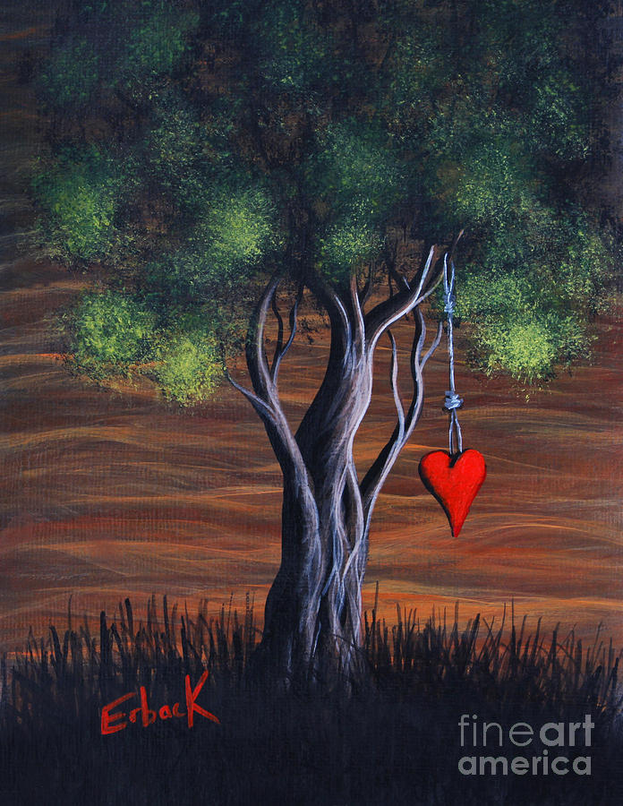 Surreal Painting - Where Love Grows By Shawna Erback by Shawna Erback