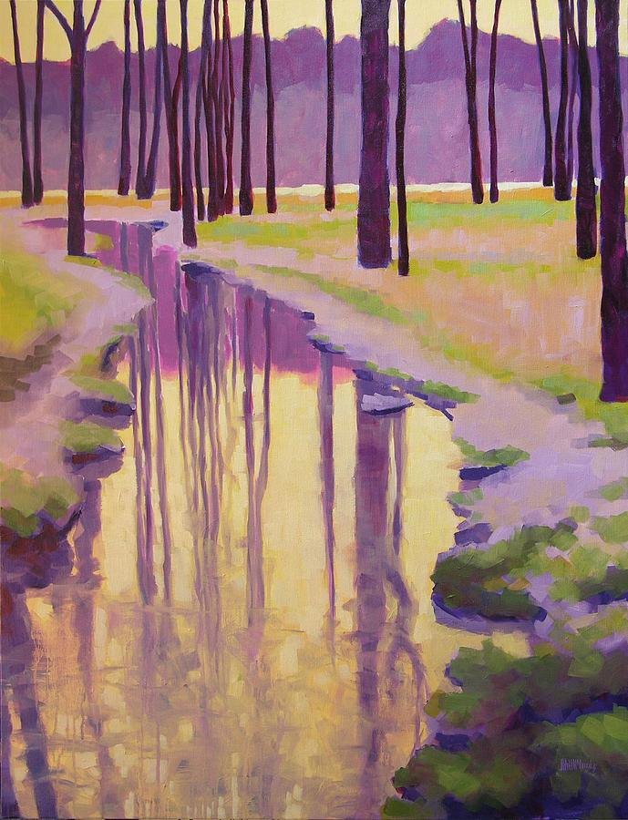 Landscape Painting - Where Nymphs Play by Mary McInnis