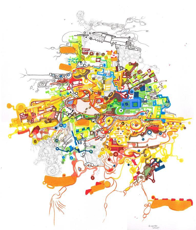 Location Drawing - Where by Regina Valluzzi