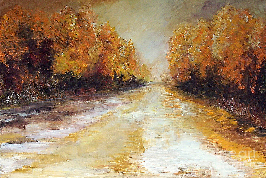 Summer Painting - Where Summer Ends by Laura Swink