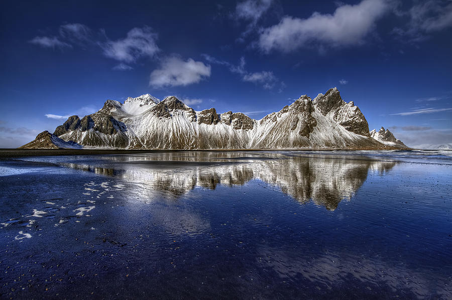 Iceland Photograph - Where The Mountains Meet The Sky by Evelina Kremsdorf