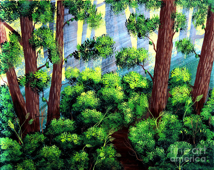 Barbara Griffin Painting - Where The Path Leads by Barbara Griffin