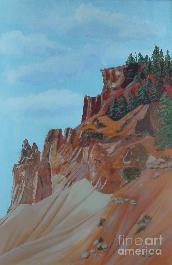 Red Rocks Painting - Where The Red Rocks Meet The Sky by Patricia Lachance