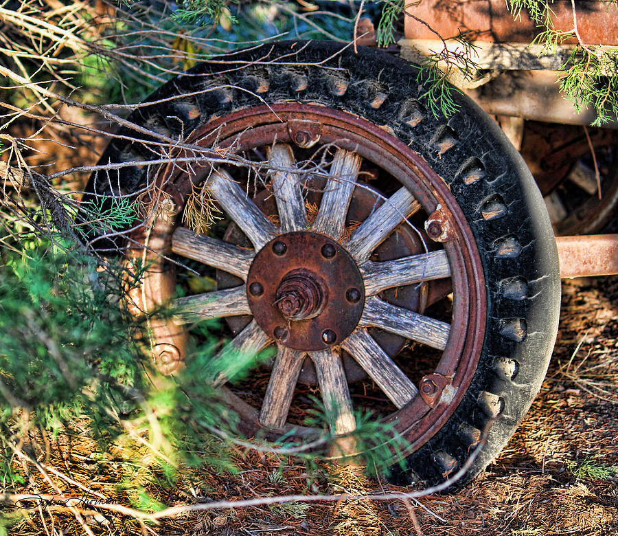 Wheel Photograph - Where The Rubber Meets The Road by Sylvia Thornton