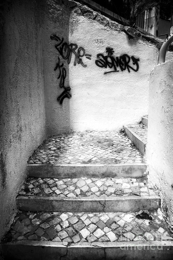 Stairs Photograph - Where The Stairs May Lead by John Rizzuto
