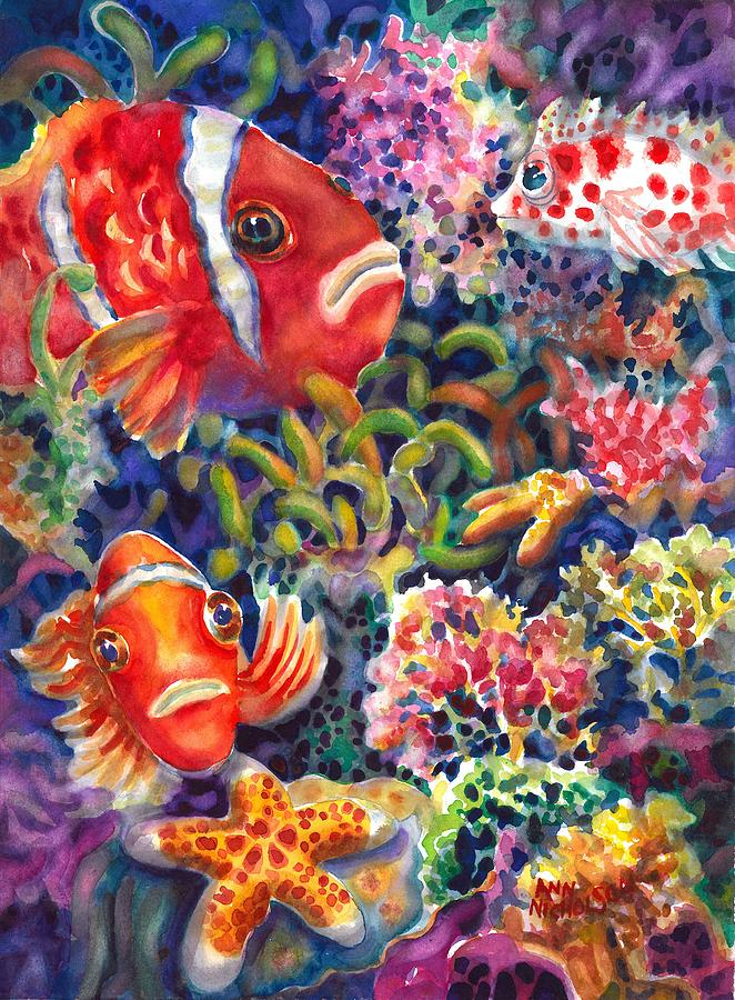 Clown Fish Painting - Wheres Nemo II by Ann  Nicholson
