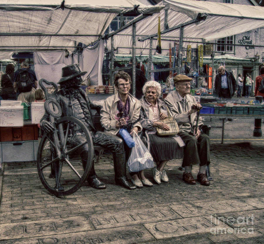 Advice For Seniors Photograph - Which One Is The Statue by Doc Braham