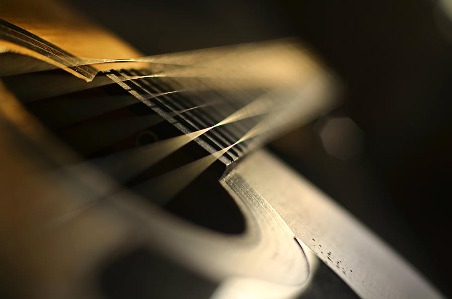 Acoustic Photograph - While My Guitar Gently Weeps by Laura Fasulo