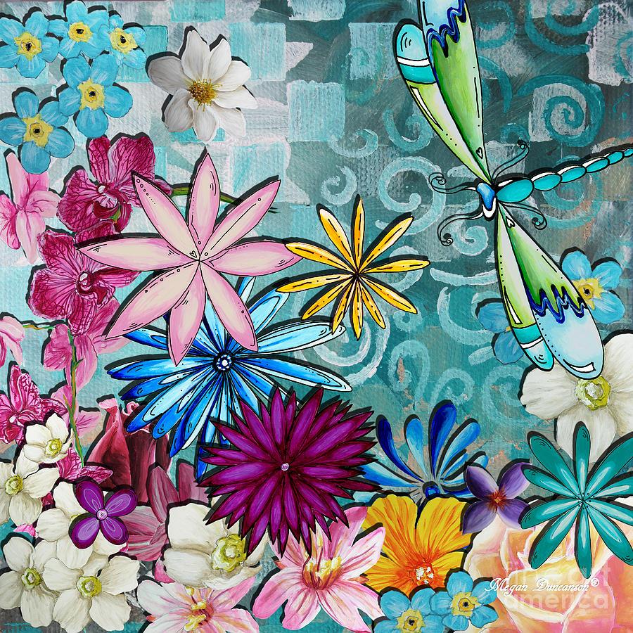 Whimsical Flower Oil Painting
