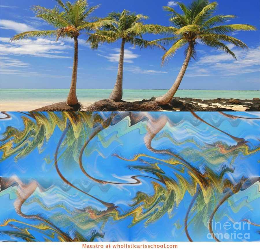 Whimsical Tropics Painting Mixed Media - Whimsical Tropics by PainterArtist FIN