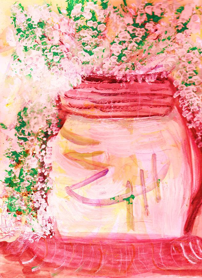 Work In Progress Painting - Whimsy Jar Work In Progress by Anne-Elizabeth Whiteway