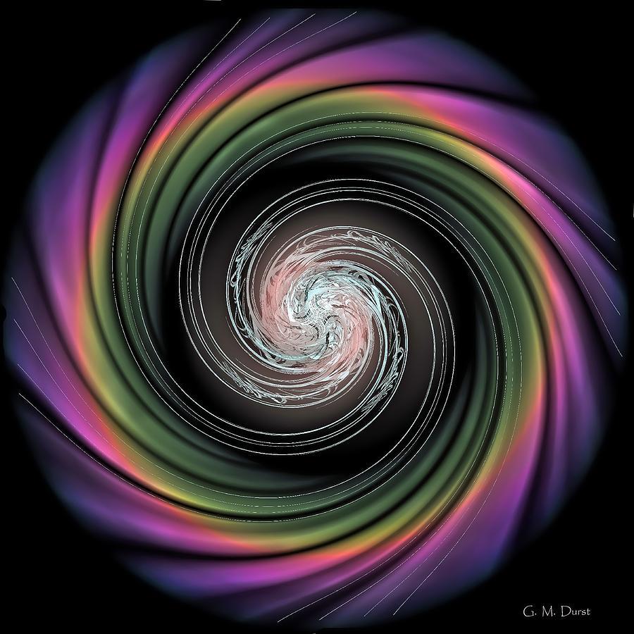 Fractal Digital Art - Whirl Wind Meditation by Michael Durst