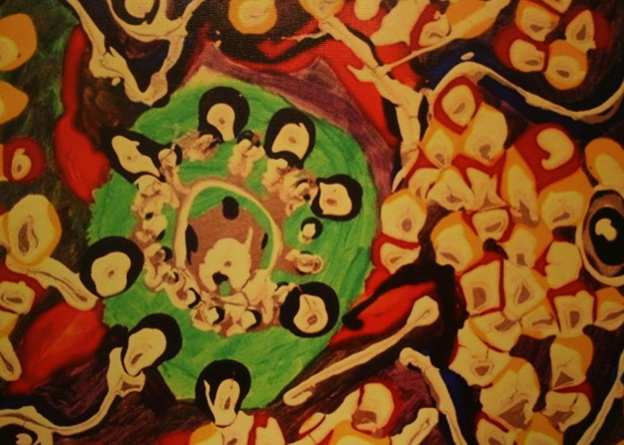 Whirlpool Painting by Corey Haim