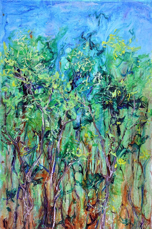 Tree Painting - Whirlwoods by Regina Valluzzi