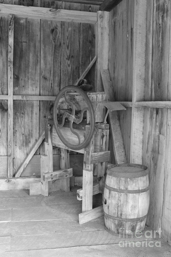 Wb Photograph - Whiskey Barrel  by Angie Andress