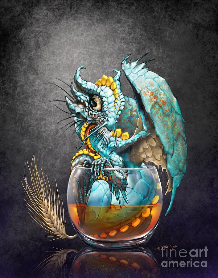 Dragon Digital Art - Whiskey Dragon by Stanley Morrison