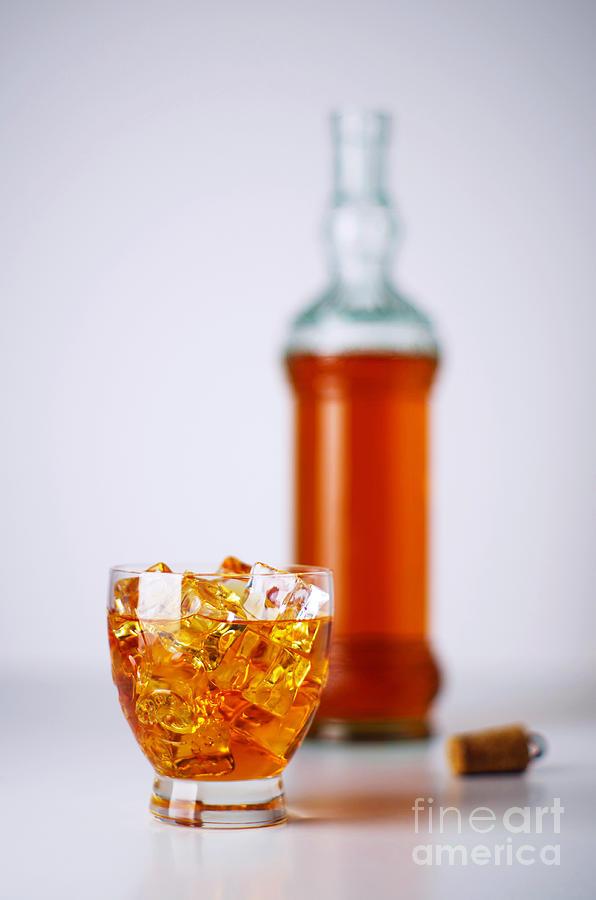 Addiction Photograph - Whiskey Glass by Carlos Caetano