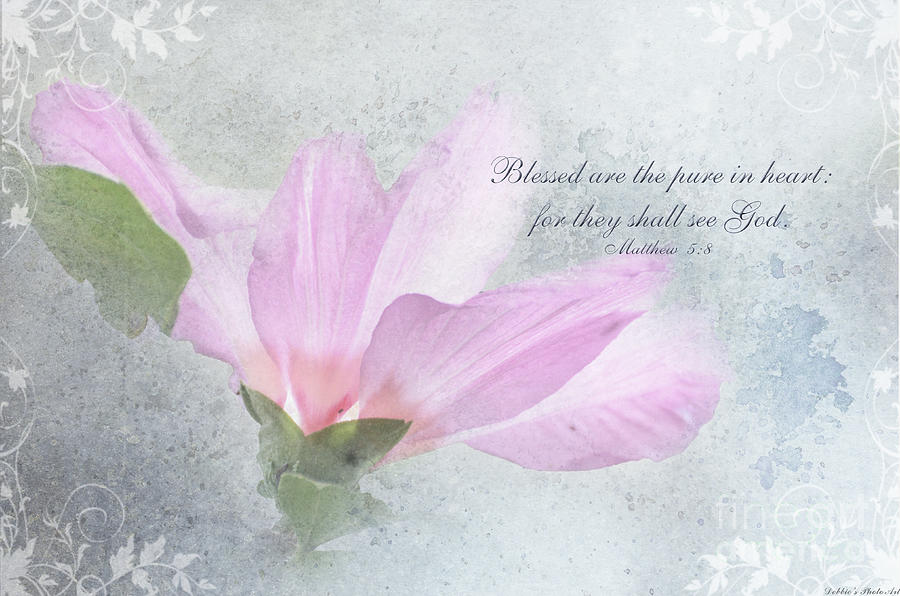 Botanical Photograph - Whisper To Me With Verse by Debbie Portwood