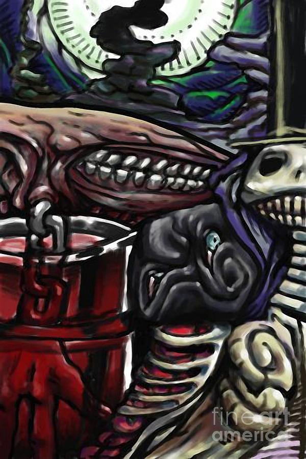 Halloween Digital Art - Whisperer by Brian Gilbert