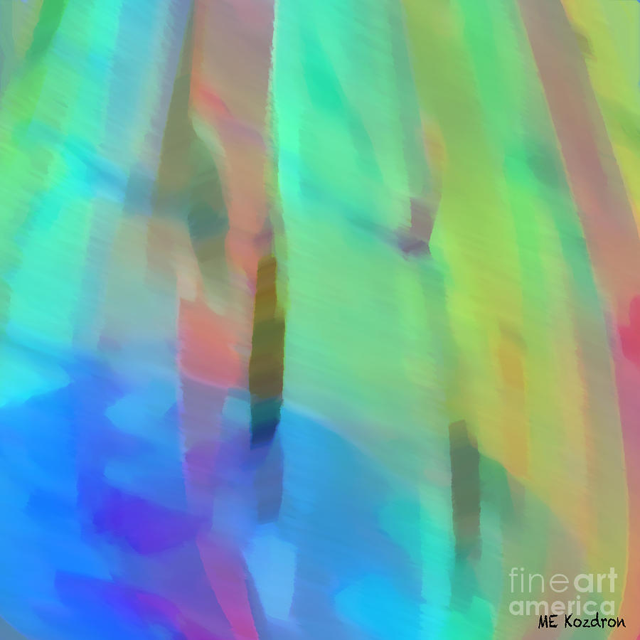 Abstract Digital Art - Whispering Breeze by ME Kozdron