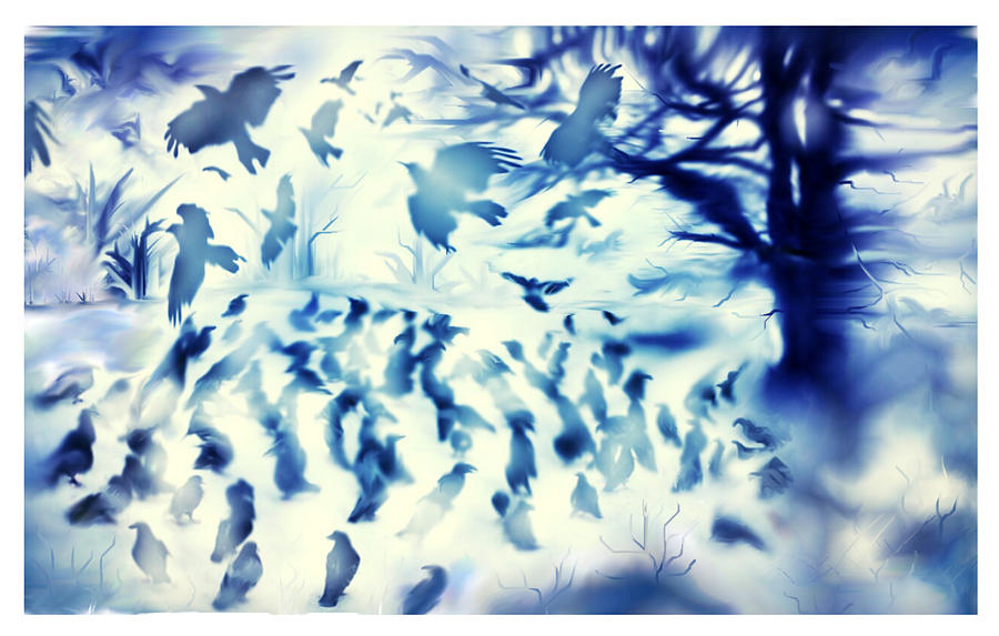 Birds Painting - Whispering Wings by Karunita Kapoor