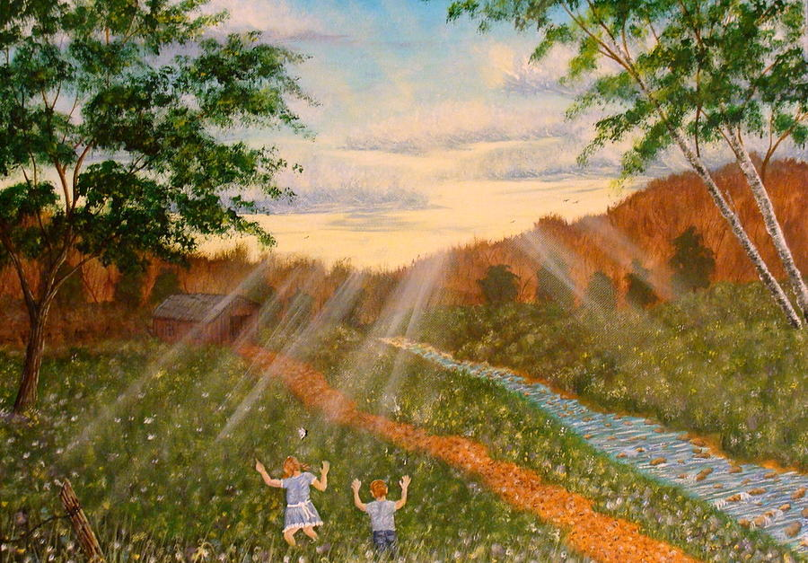Landscape Painting - Whispers To God by David Bentley