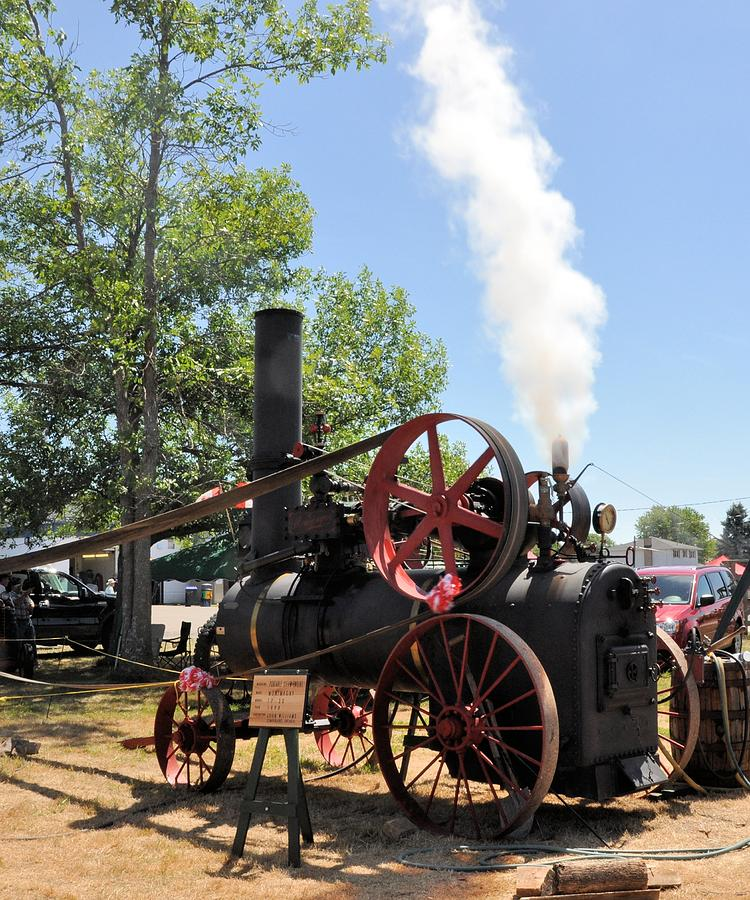 Steam Photograph - Whistle-blowing Time by Valerie Kirkwood