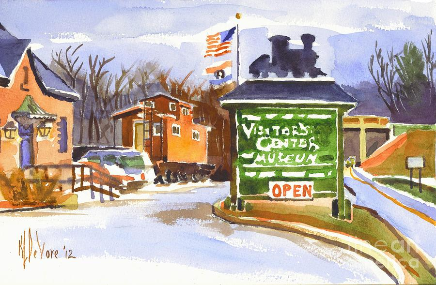 Museum Painting - Whistle Junction In Ironton Missouri by Kip DeVore