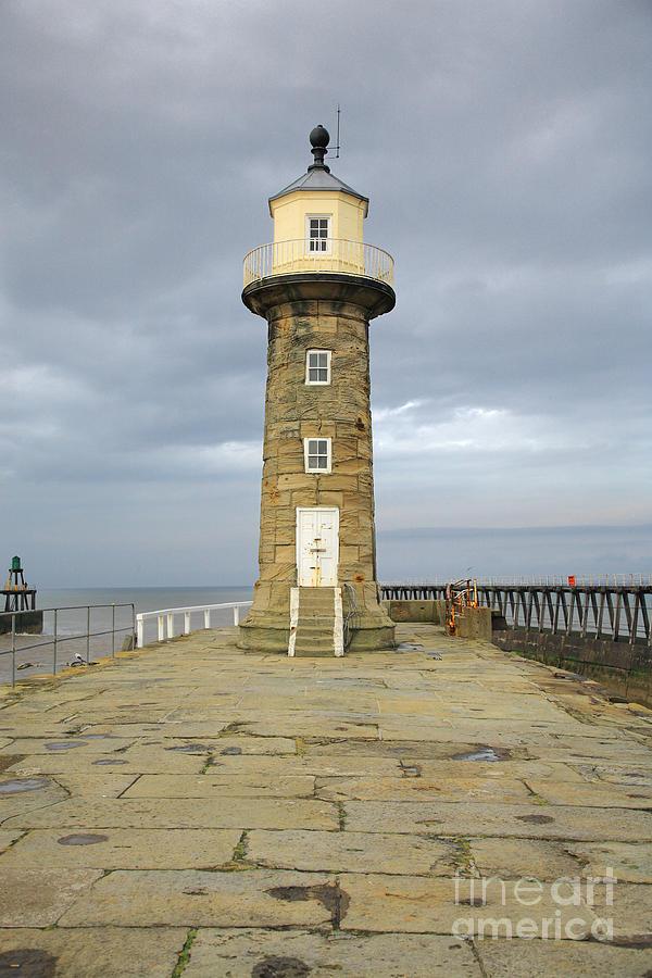 1835 Photograph - Whitby Lighthouse by Deborah Benbrook
