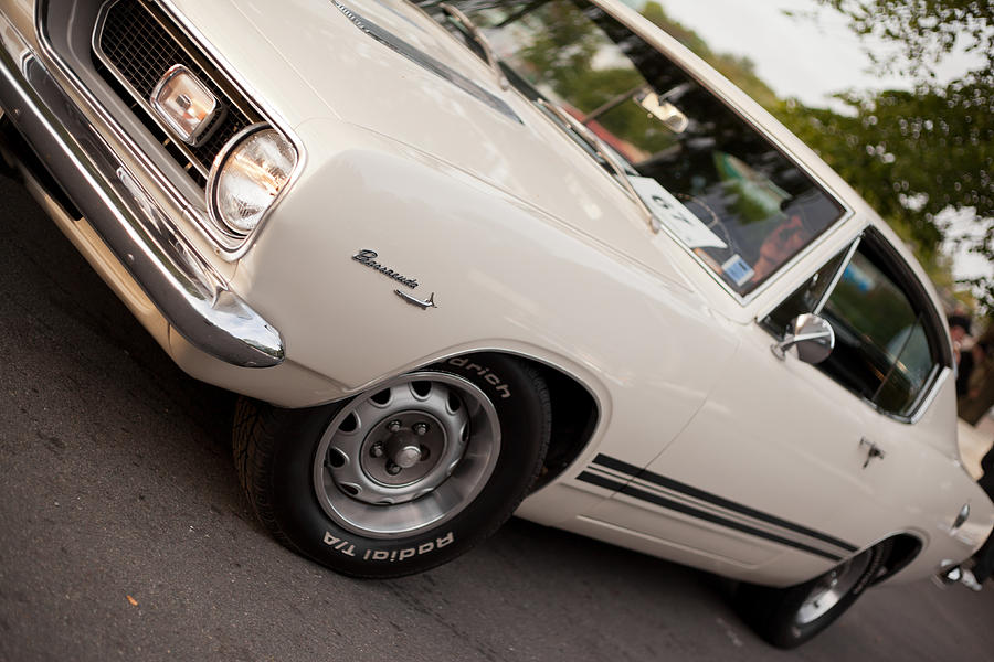 White 1969 Plymouth Barracuda Photograph by Sshaw75