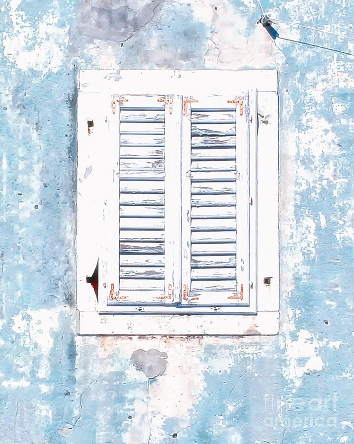 White and Blue Window by Kate McKenna