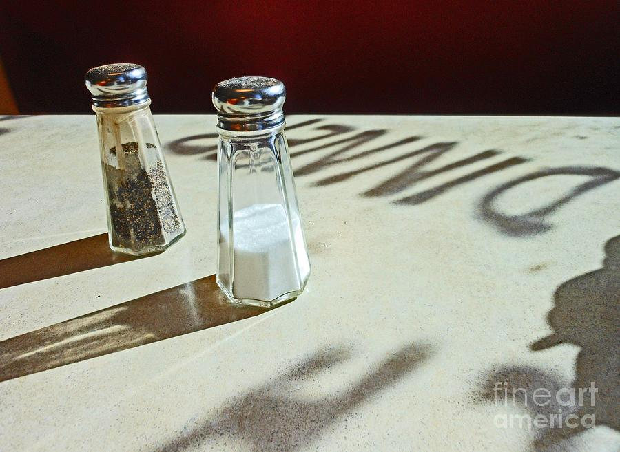 Salt Photograph - White and Shadows by Beebe  Barksdale-Bruner