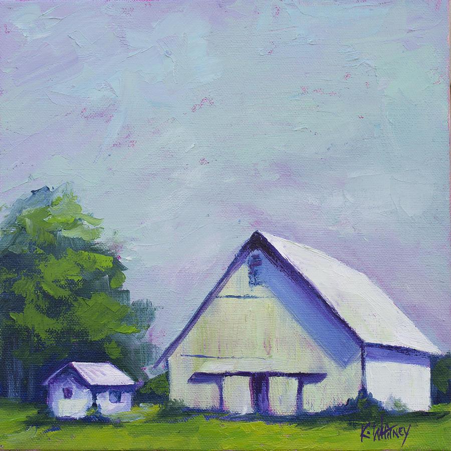 White Painting - White Barn by Kristin Whitney